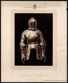 Media armadura de Juan de Padilla el comunero.. Laurent, J. 1816-1886 — Fotografía — 1868
