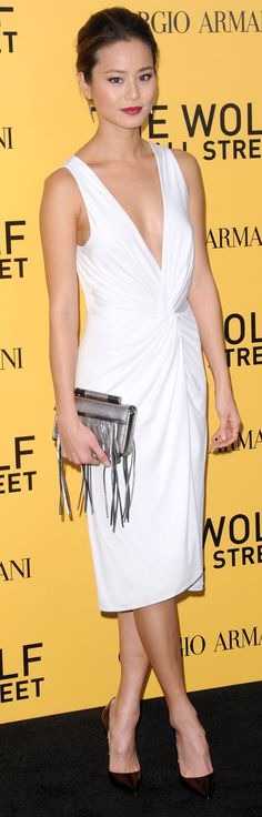 Jamie Chung at the US premiere of 'The Wolf of Wall Street' sponsored by Giorgio Armani and Paramount Pictures, which was held at the Ziegfeld Theatre in New York City on December 17, 2013