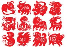 These are cute Chinese horoscope symbols.