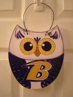 Baltimore Ravens Owl by Countrytouch1234 on Etsy, $14.95