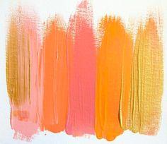 citrus, pink, gold--palette for girls' room