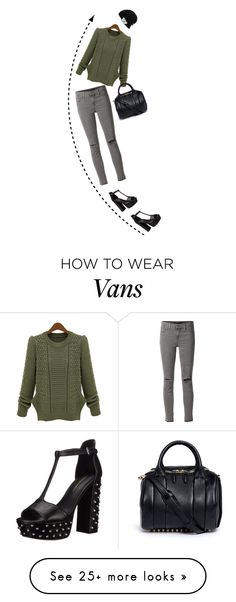 """""""Untitled #360"""" by saraishi on Polyvore featuring J Brand, Rebecca Minkoff, Alexander Wang and Vans"""