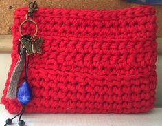 Clutch trapillo rojo