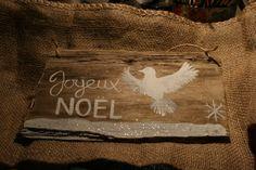 Driftwood Sign Joyeux Noel by TheLazyBeach on Etsy