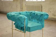 Resultado de imagen de lamparas origami Chesterfield Armchair, Blue Armchair, Modern Furniture, Furniture Design, Take A Seat, Cool Chairs, Chair Design, Upholstery, Interior Design