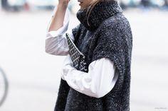 A Minimal Chic Way To Wear A Sleeveless Turtleneck Sweater