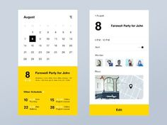 Calendar App by Kazuya Horikirikawa on Dribbble App Ui Design, Ui Design Mobile, Web Design, Website Design Layout, Interface Design, User Interface, Graphic Design Magazine, Magazine Design, Calendar Ui