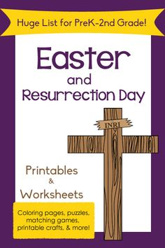 Browse through an enormous list of Easter Printables (including Resurrection Day!) for preschoolers through 2nd graders!