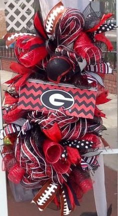 Georgia Bulldog Swag Wreath-Red Black White by NanaSpareRoom