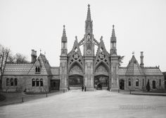 The Dowager's Diary: New York City's Downton Abbey - Week Twenty-Five - Woman Around Town New York Cemetery, Brooklyn New York, New York City, Greenwood Cemetery, The Golem, Vintage Architecture, Photo Archive, Downton Abbey, New York