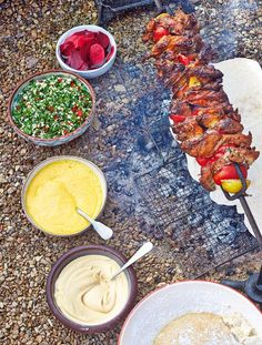 Amba sauce, houmous, tabbouleh, pickled veg and flatbreads are what make a shawarma so special. Jamie Oliver recipe.