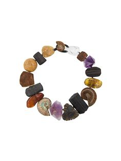 Monies stone & fossil necklace