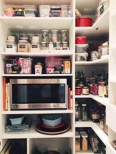 The completed pantry.