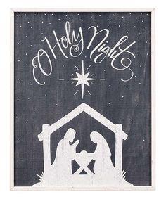 Black Nativity Silhouette' Wall Art by Glory Haus #zulily #zulilyfinds