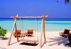 beach, blue, paradise, sand