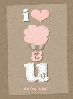 Cupcakes And You Classroom Valentine for girls by fatfatin