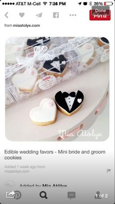 Mini Bride & Groom Cookies
