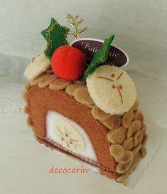 Sentivo Cake, torta di Natale, ritenuto cibo, festa di Natale di feltro Home Decor decorazione ornamento, sentivo Decor, decorazione di Natale, ornamento di Natale