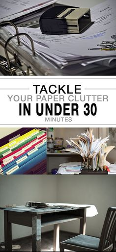 Tackle Your Paper Clutter in Under 30 Minutes - More #ClutterStorage