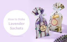 Lavender is a fragrant herb that grows as a small bush. Its violet flowers emit a characteristic smell, which is very soothing. How to Make Lavender Sachets List Of Positive Words, Lavender Sachets, Place Card Holders, Positivity, Gift Ideas, Flowers, How To Make, Gifts, Diy