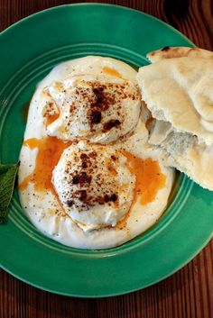 """NYT Cooking: Fresh eggs, whether purchased at the farmers' market or taken from your own home coop, are a great start to any recipe that calls for eggs. This one is adapted from """"The Fresh Egg Cookbook"""" by Jennifer Trainer Thompson and gives the eggs the unlikely partners of plain Greek yogurt and fresh mint. It's served with pita or flatbread. A strange combination? You won't think so once you've started to eat."""