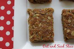 Oat Slice - rolled oats, pepita and chia seed slice perfect for school lunches - tastes delicious.