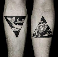 Temporäre Tätowierung Wal // temporary whale tattoo via DaWanda.com