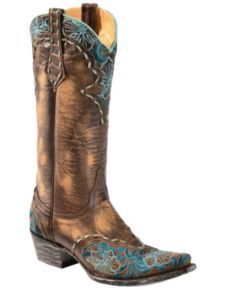 Old Gringo Erin Turquoise Floral Embroidered Cowgirl Boots - Snip Toe - Sheplers Country Girl Boots, Bota Country, Country Outfits, Cowgirl Style, Cowgirl Boots, Western Boots, Western Wear, Western Style, Cowboy Hats