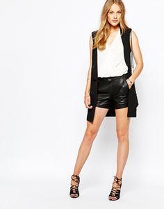 Vila Leather Look Shorts