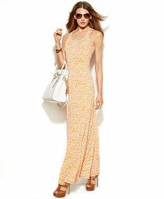 MICHAEL Michael Kors Sleeveless Printed Maxi Dress