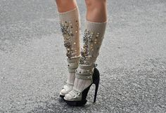 Socks and Heels #cold #fashion #ss14
