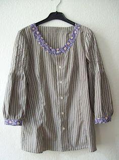 Refashion: aus Männerhemd wird Bluse DIY Upcycling