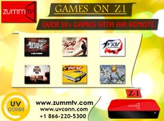 Now Enjoy Lots Of Games With Our Special ZUMM TV Gaming Box Z1 . Make Your Boring Time Special With Us  To Place Your Order Contact : For More Queries : Call :1866-220-5300 Visit http://zummtv.com/ today!