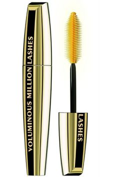 One of the major mascara gripes is clumps. But this option has a built-in brush-wiping system that de-clumps as the wand pops out of the tube. Plus, the spiky brush helps separate lashes and add volume. L'Oreal Paris Voluminous Millions Mascara, $7, available at Walmart.