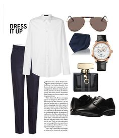 """Classy"" by pitaa29 on Polyvore featuring AMI, Versace, Cifonelli, Girard-Perregaux, Stacy Adams, Gucci, men's fashion and menswear"
