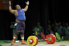 Fernando Salas (ECU) levantamento de peso Rio 2016 acima 105kg (Foto: Reuters)