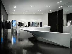Merveilleux travail d'architecture Mondialement connue, l'architecteZaha Hadid vient de partager les dernières images de son concept Shop in shop pour le