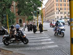 Nuns on the Via Cavour. A familiar sight on my trips to Rome, I incorporated a similar scene into The Royal Bastard. Photo Boards, Rome Travel, Trips, Street View, Scene, Inspiration, Viajes, Biblical Inspiration, Traveling
