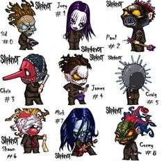 Chapter 8: Slipknot - \\SidJoeyPaulChrisJamesCraigShawnMickCorey// amo estos dibujitos *OOOOOOOOOOOOOOO* dejo tema qe me encanta! [U]Duality[/U] ~ Slipknot I push my fingers into my eyes It's the only thing that slowly stops the ache But it's made of all the things I have to take Jesus it never ends, it works it's way inside If the pain goes on [B]I have screamed until my veins collapsed[/B] I've waited as my times elapsed Now all I do is live with so much fate I wished for this, I bitched…