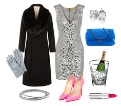 """""""Christmas Party Part Deux"""" by pinkngreennblack ❤ liked on Polyvore featuring Alice + Olivia, Christian Louboutin, Jacques Vert, Givenchy, David Yurman, Chanel, Jaeger and LSA International"""