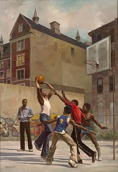 Max Ginsburg Illustration for the Walter Dean Meyers book Hoops Black Art Painting, Black Artwork, Black Love Art, Black Girl Art, African American Artwork, African Art, Black Art Pictures, Black Panthers, Basketball Art