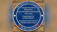 George Michael plaque unveiled at Bushey Meads school