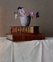 Homerus Odyssee | stilleven schilderij in olieverf van Ingrid Smuling | Exclusieve kunst online te koop in de webshop van Galerie Wildevuur