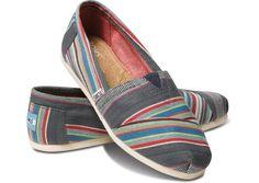 2014 New Arrival Toms Shoes Denim Stripe [toms1009] - $21.69 :
