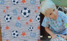 Katoenen tricot van Hilco stoffen, speciaal voor alle voetbalspelertjes.