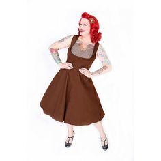 'Ophelia' Vintage 1950's Chocolate Swing/Jive Dress