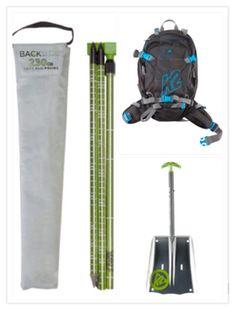 K2 backside set. Safety first! Composed by the K2 Speed Shovel, K2 Aluminum Probe and K2 Hyak backpack! www.extremalia.com  #freeski, #ski, #freeride #powdertools
