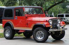 1985 Red Jeep CJ7 Laredo $22995