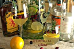 This Fireball Sangria recipe combines white wine with a strong cinnamon flavor. The orange and apple flavors help make it the perfect Christmas Sangria.