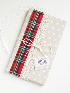 tartan and polka dots for a special xmas package
